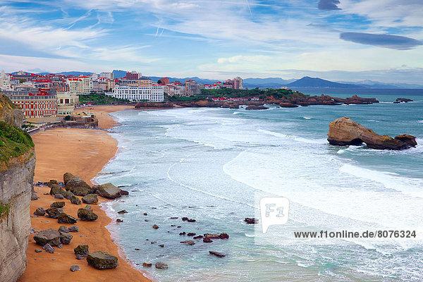 Strand Großstadt Draufsicht Biarritz