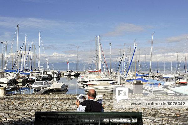 Fischereihafen  Fischerhafen  sehen  See  Genf