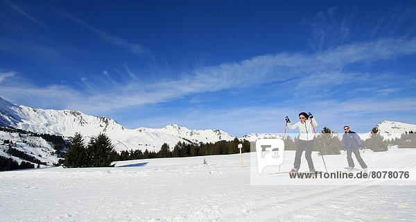 überqueren  Skisport  Kreuz