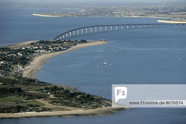 Strand  über  Brücke  Insel  Ansicht  Luftbild  Fernsehantenne