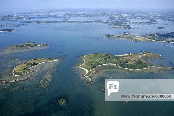 über  Insel  Ansicht  Luftbild  Fernsehantenne  Morbihan