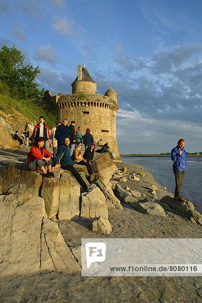 Frankreich Heiligtum Mont Saint-Michel Normandie Tourismus
