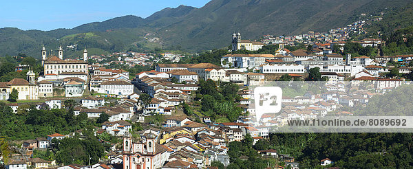 Cityscape of Ouro Preto  a UNESCO World Heritage Site