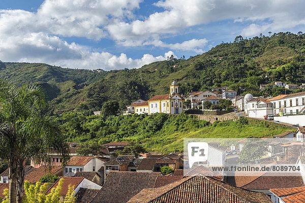Kirche Nossa Senhora das Merces e Misericordia in der Altstadt von Ouro Preto  UNESCO-Weltkulturerbe