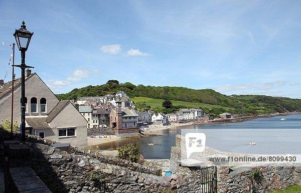 Europa  Großbritannien  über  Dorf  Ansicht  Cornwall  England