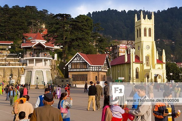 St. Michael's Cathedral  The Mall  Shimla  Himachal Pradesh  India  Asia