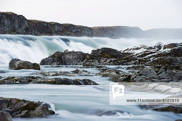 Urridafoss waterfall  South Iceland  Iceland  Polar Regions