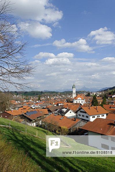 Deutschland  Bayern  Blick auf Nesselwang