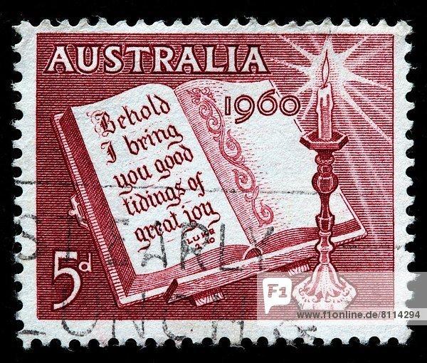 Weihnachten  sechziger Jahre  Australien  Briefmarke