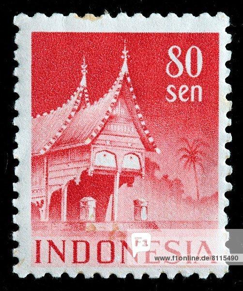 Indonesien Briefmarke Sumatra