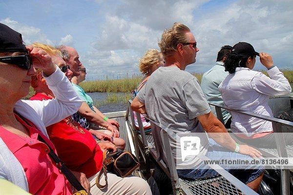 Frau  Mann  Wind  Everglades Nationalpark  Florida  Weston