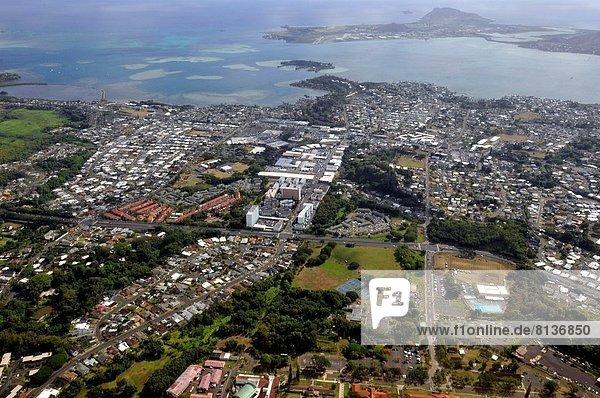Vereinigte Staaten von Amerika USA Stadt Ansicht Luftbild Fernsehantenne Hawaii Oahu