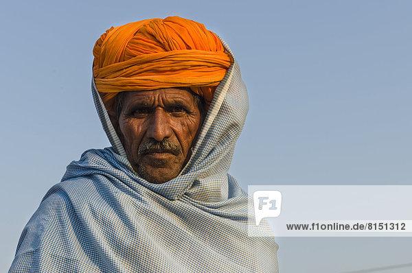 Portrait of a pilgrim during Kumbh Mela