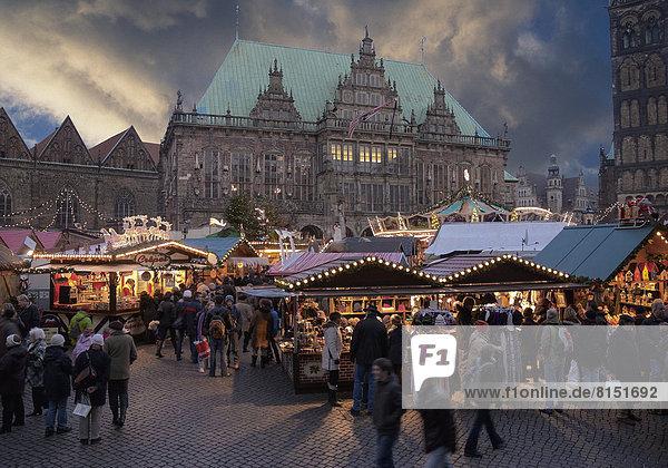 Weihnachtsmarkt  Bremen  Deutschland Weihnachtsmarkt, Bremen, Deutschland