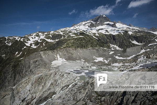 Galenstock vom Furka-Pass mit Rhonegletscher