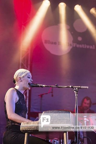 The Belgian singer and songwriter Trixie Whitley live at the Blue Balls Festival  Pavillon am See