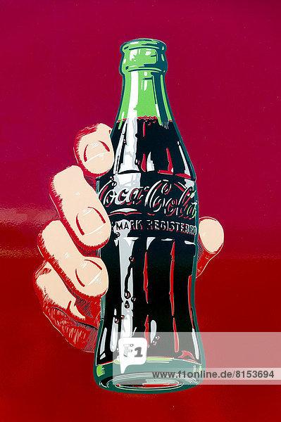 Historische Reklamezeichnung für Coca-Cola Historische Reklamezeichnung für Coca-Cola