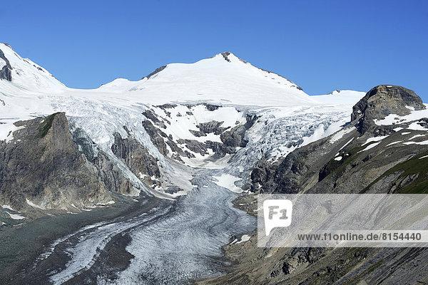 Pasterze-Gletscher  hinten der Johannisberg