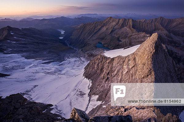 Wildgerlostal  Gletscher Wildgerloskees  links  Hohe Gabler  rechts  von der Reichenspitze aus