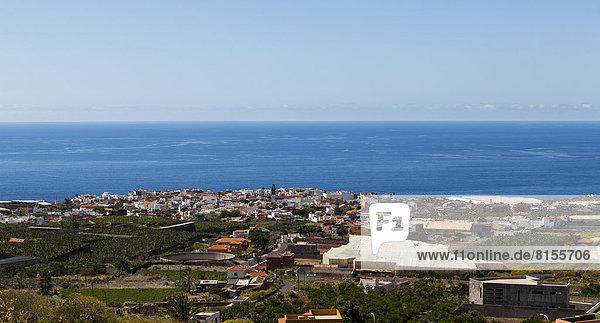 Spain  View of Coastal town of Garachico