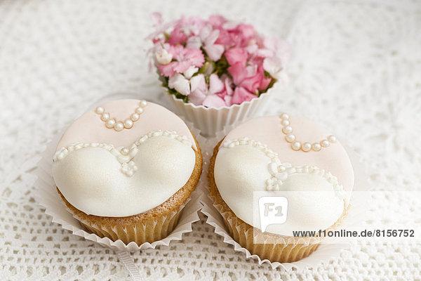Brautkuchen für die Hochzeit  Nahaufnahme