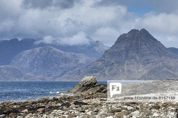 Vereinigtes Königreich  Schottland  Isle of Skye  Blick auf Cuillin Hills