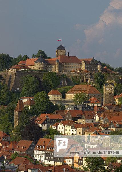 Deutschland  Bayern  Kronach  Blick auf die Festung Rosenberg