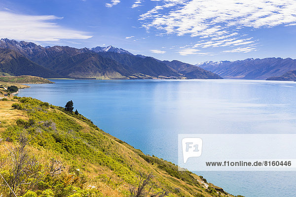 Lake Hawea with views of the Hunter Valley