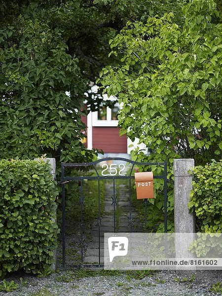 Gate with letterbox