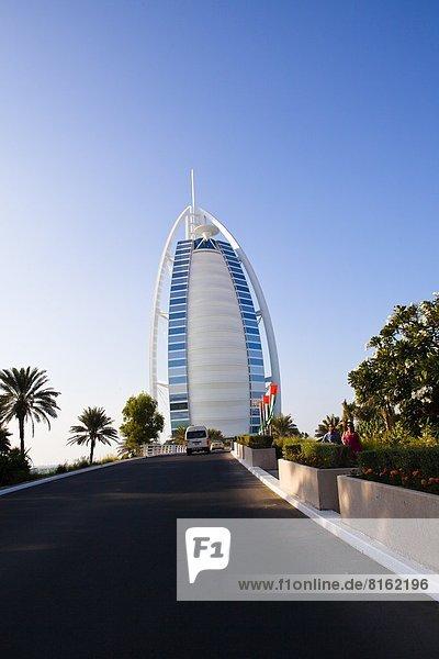 Low angle view of Burj Al Arab