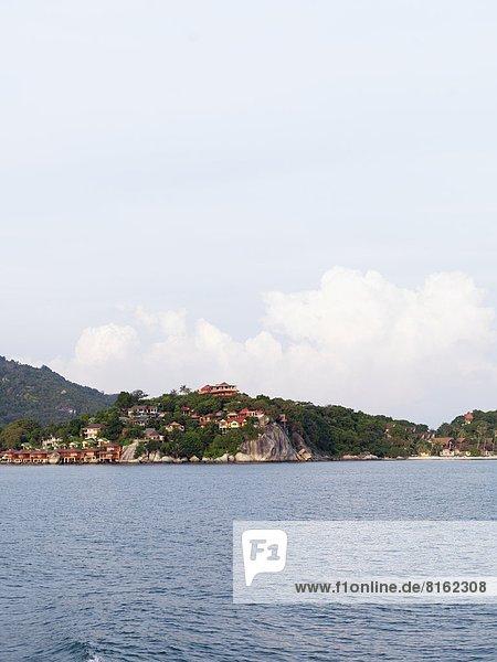 View of buildings on coastline