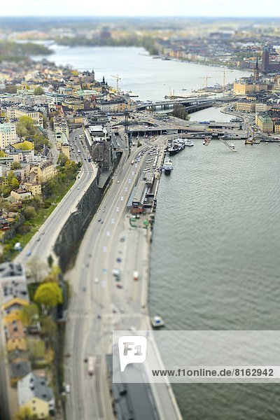 Stockholm cityscape  aerial view