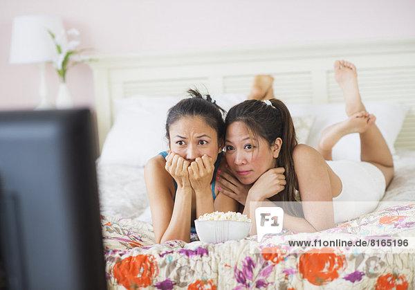 Frau  sehen  Fernsehen  2