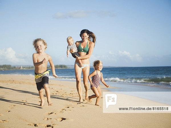 Strand  Mutter - Mensch