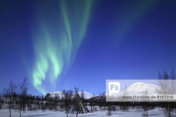 Ansicht  Polarlicht  Aurora