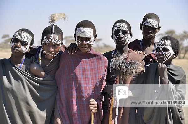 Junge Massai-Krieger