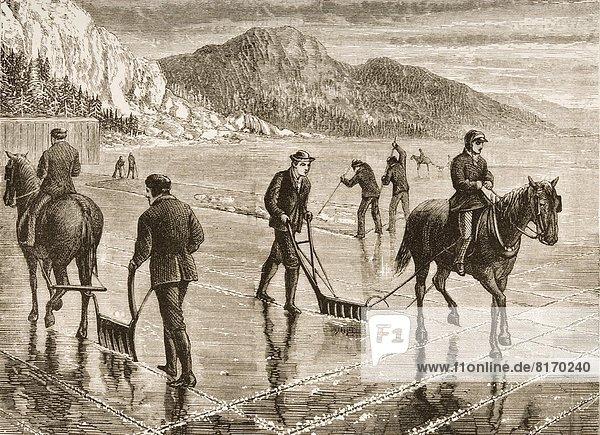 Stift  Stifte  Schreibstift  Schreibstifte  Bleistift  ernten  Eis  Fluss  amerikanisch  Gemälde  Bild  Zeichnung  Hudson River