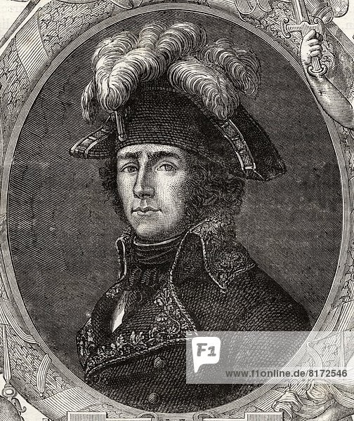 Jean-Antoine Rossignol  1759-1802. French Army Officer And Friend Of Robespierre. From Histoire De La Revolution Francaise By Louis Blanc