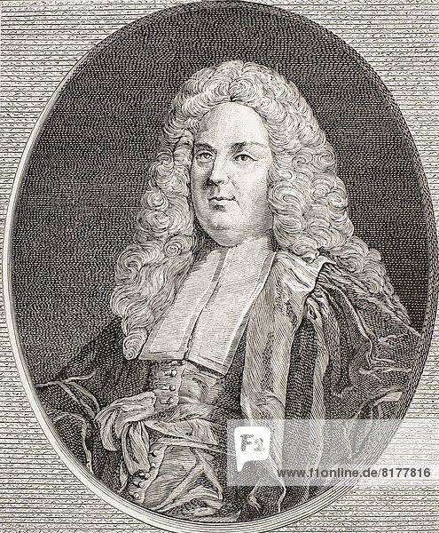 Michel-Étienne Turgot  1690 – 1751. Mayor Of Paris. From Xviii Siecle Institutions  Usages Et Costumes  Published Paris 1875.