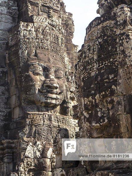 Faces. Bayon. Angkor Thom. Cambodia