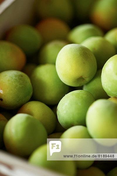 Haufen frischer grüner Äpfel