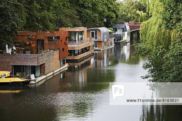 deutschland eilbekkanal europa 20130909hjlm09 hamburg hausboote f1online exclusive. Black Bedroom Furniture Sets. Home Design Ideas