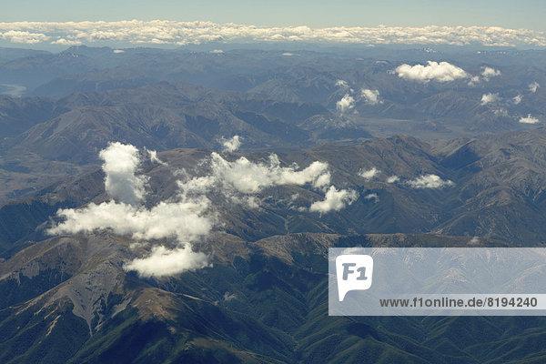 Luftaufnahme  Oxford Forest in den Southern Alps