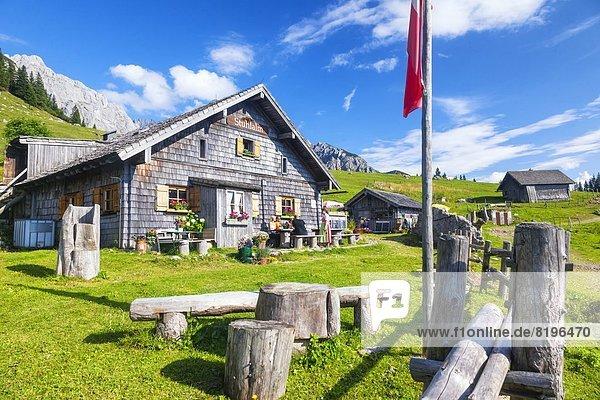 Die Stuhlalm am Gosaukamm  Salzburger Land  Österreich