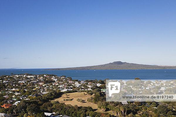 Neuseeland  Auckland  Blick auf Rangitoto Island