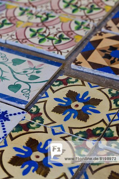 Portugal  Faro  Sorten von Keramikfliesen Portugal, Faro, Sorten von Keramikfliesen