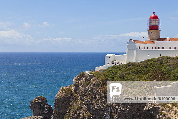 Portugal  Lagos  View of lighthouse at Cape St Vincent
