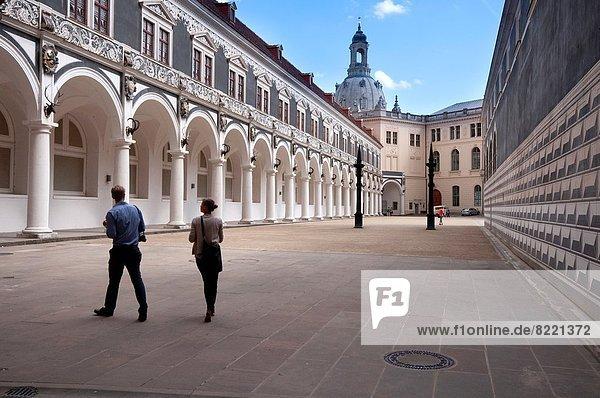 Arkade  Dresden  Residenzschloss  Deutschland  Sachsen