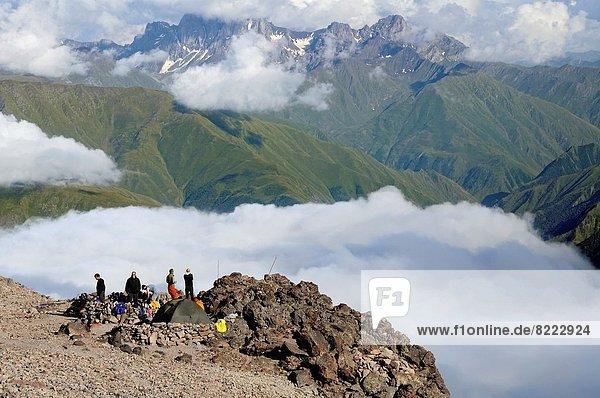 Berg  Wolke  Meer  camping  Ansicht