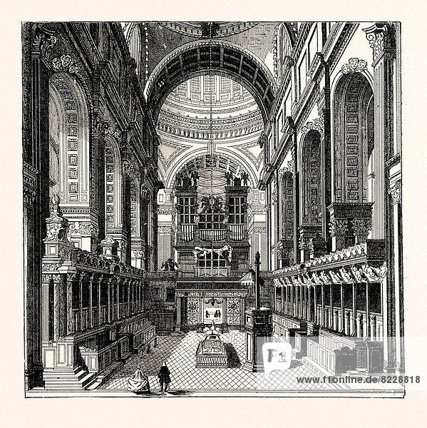 London  Hauptstadt  St. Pauls Cathedral  entfernen  entfernt  sichtschutz